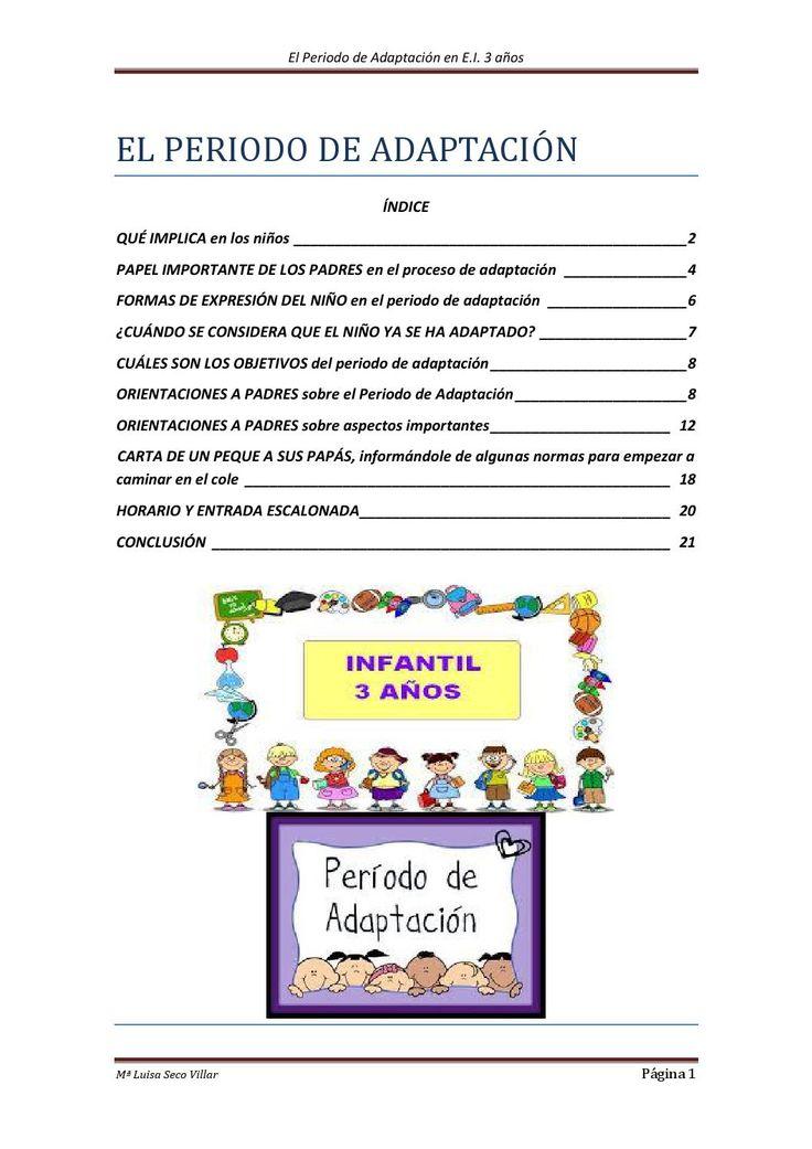 Orientaciones a padres sobre el ingreso en la escuela de sus hijos de 3 años.