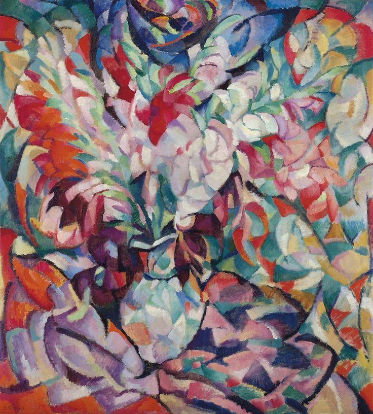 Leo Gestel (Dutch, 1881-1941), Gladiolen [Gladioli], 1913. Oil on canvas