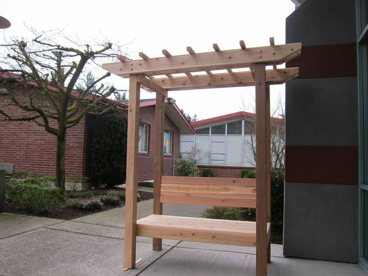 how to build an arbor with built in benches
