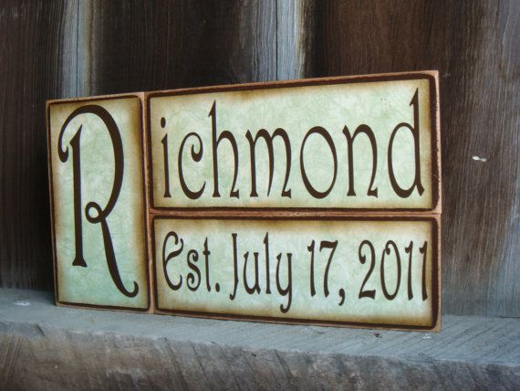 Personalized Wood Blocks Click to see more colors by heathere2844, $15.00