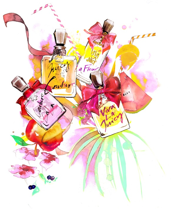 Fashion Illustration by Amelie Hegardt for Juicy Couture's Summer Juice Bar