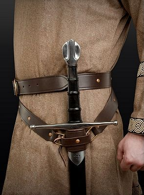 Medieval Double Wrap Belt -Brown , Viking Belts, Crusader Belts, Sword Belts, Sword Belts, Belts from The Knight Shop