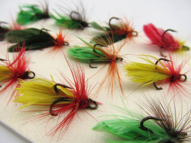 Anmuka 12 pcs/set Treble Hook Dry Fly Hooks Fishing Trout Salmon Flies Fish  Fly fishing Hooks Salmon Trout Treble Hook