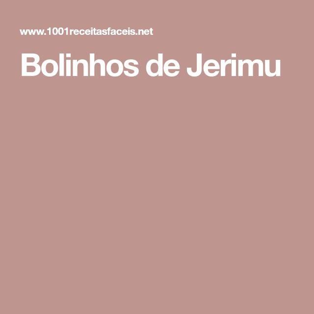 Bolinhos de Jerimu