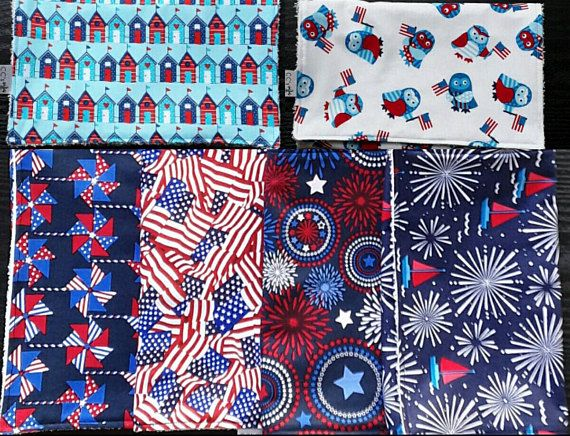 Create Your Own; Burp Cloth Bundle; Oversized Burp Cloths; Burp Rags; Burp Cloth Set; Patriotic Burp Cloth; July 4th; 4th of July