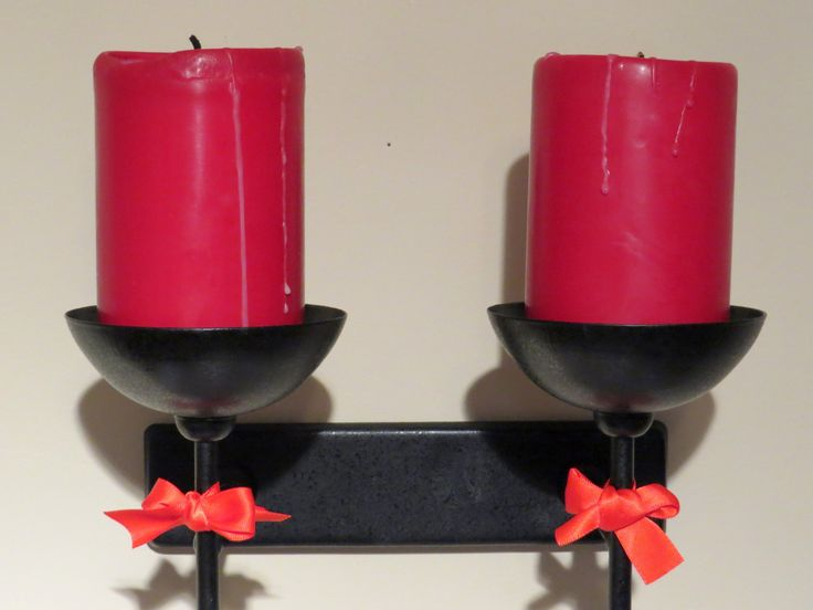 Black candle holders, Gothic candle holders, wall mounted candles, long black candleholders, black metal candle, black metal holders by ChippedPaints on Etsy