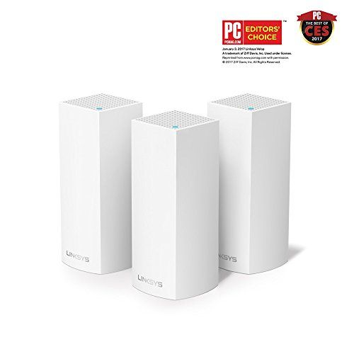 Linksys Velop Tri-band Whole Home WiFi Mesh System Works with Amazon Alexa,3-Pack(WHW0303)