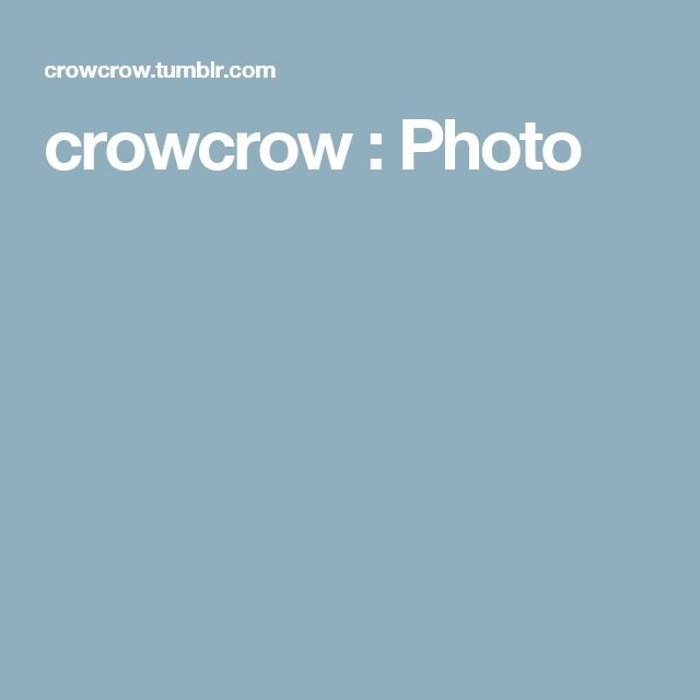crowcrow : Photo