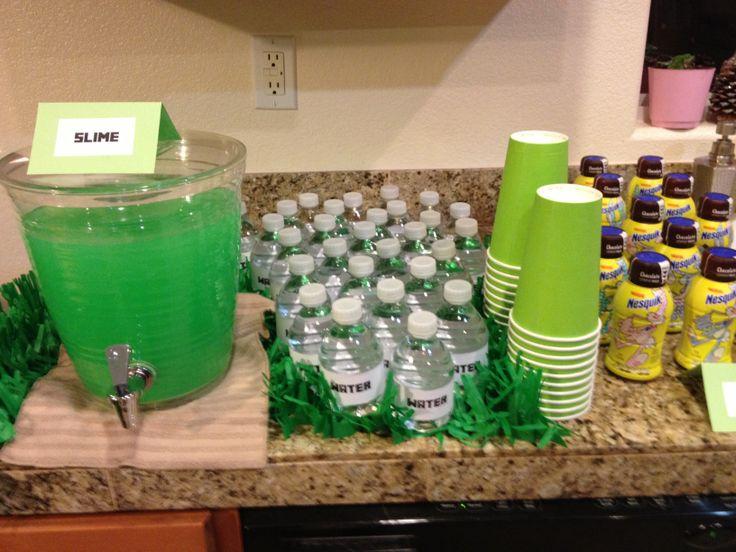 Minecraft Party Drink Station Ricky S Minecraft Party