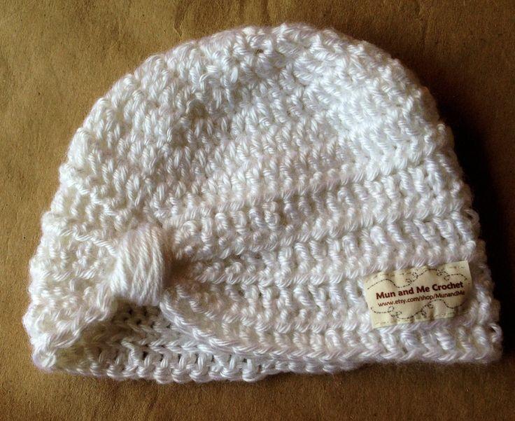 Boy/Girl handmade crochet  turban or hat with pom pom. by MunandMe