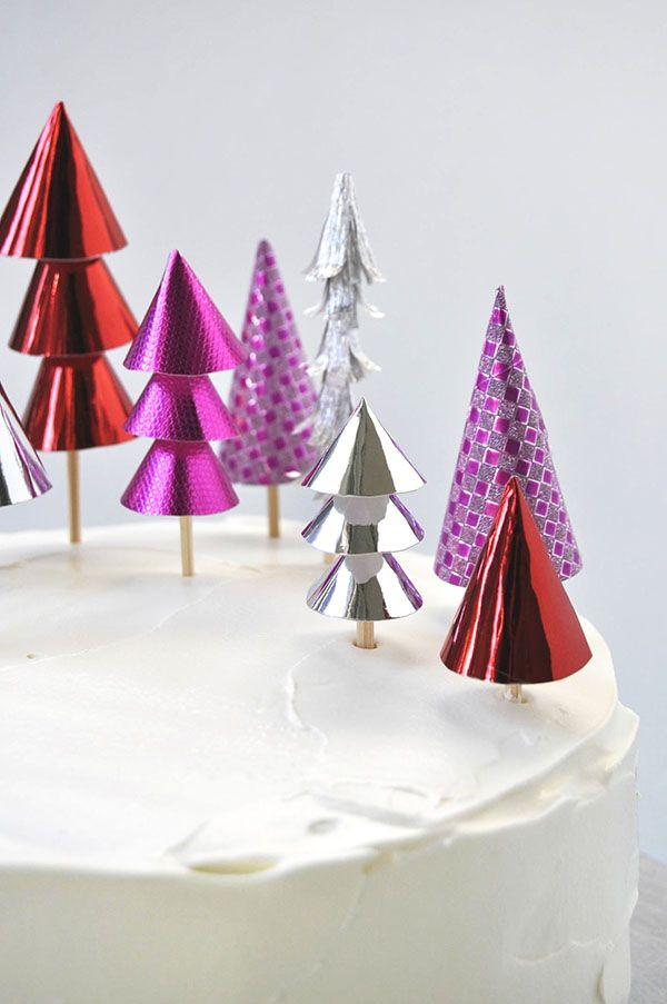 クリスマスの森のケーキトッパー オーハッピーデイ!