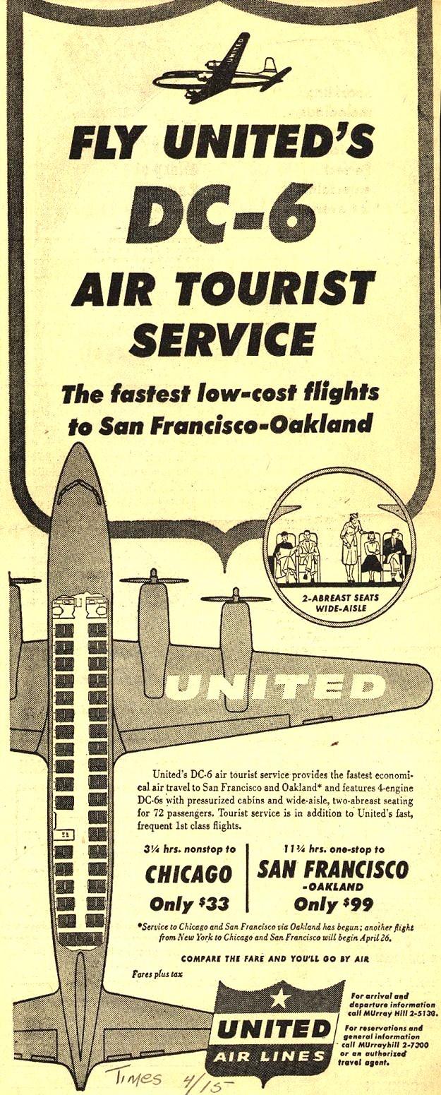 Vintage United Air Lines - 1953
