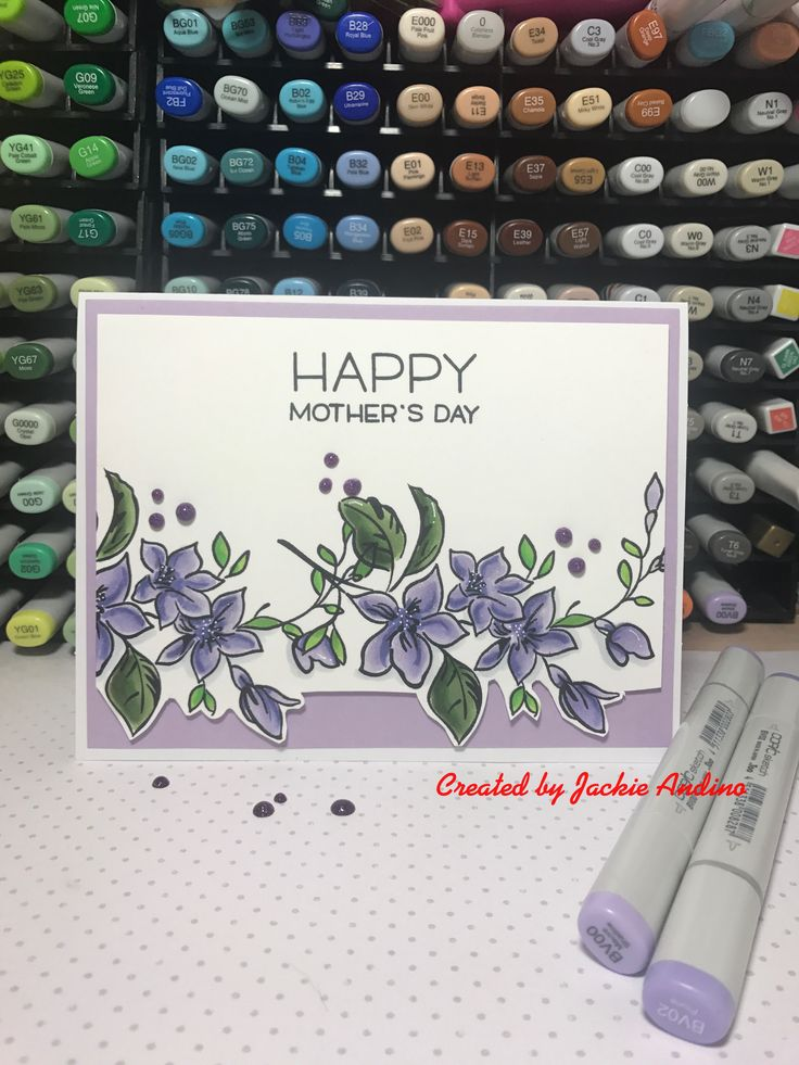 Mother's Day card using the Altenew stamp set Best Mom.