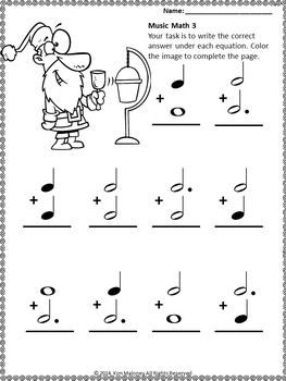 Christmas Music Lessons 24 Santa Music Math Worksheets Musiceducation Musiced Music Math Christmas Music Worksheets Free Christmas Music Worksheets