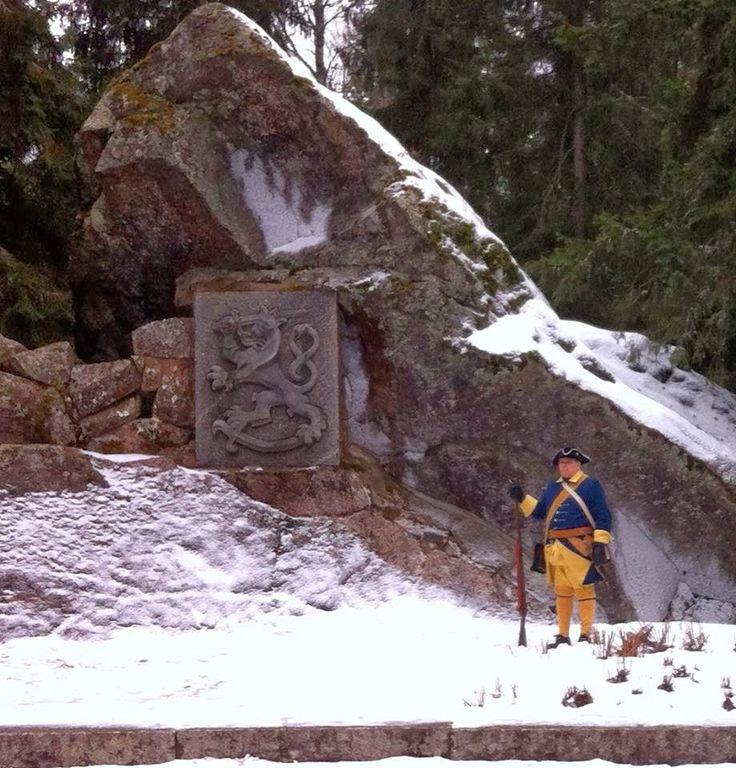 Napuen taistelun muistomerkki, Isokyrö. Suuri Pohjan sota 19.2.1714.