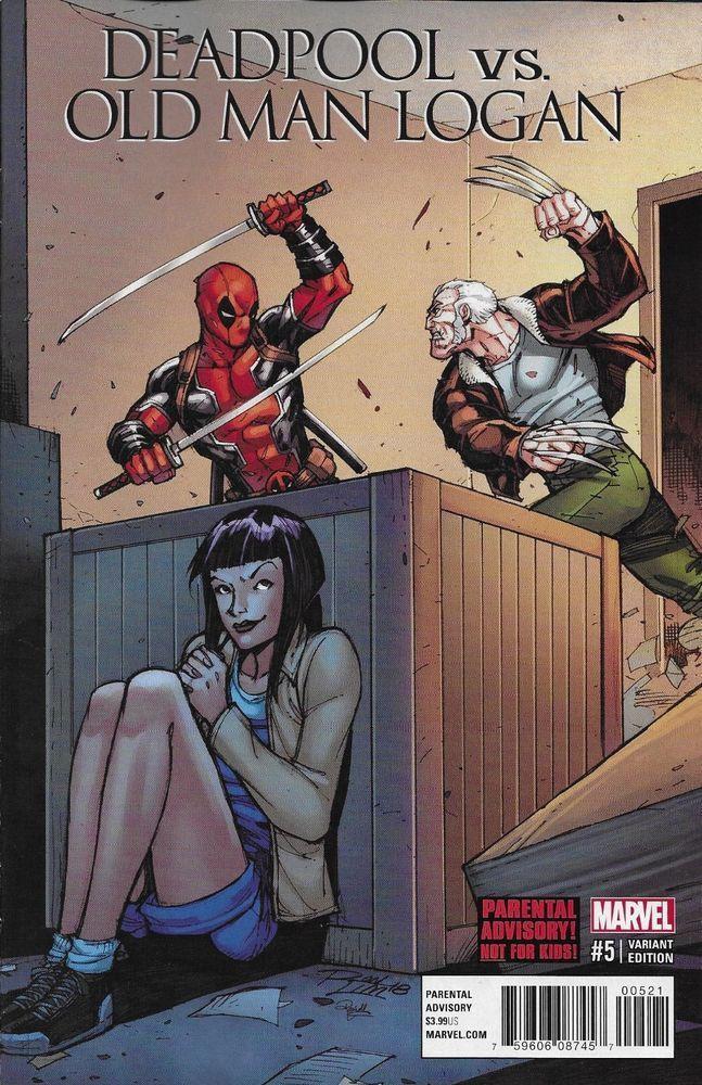Marvel Deadpool vs. Old Man Logan Wolverine comic issue 5 Limited variant #Wolverine