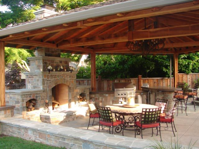 Outdoor Kitchen Designs | Design an Outdoor Firepit or Fireplace Feature | Sacramento Landscape ...