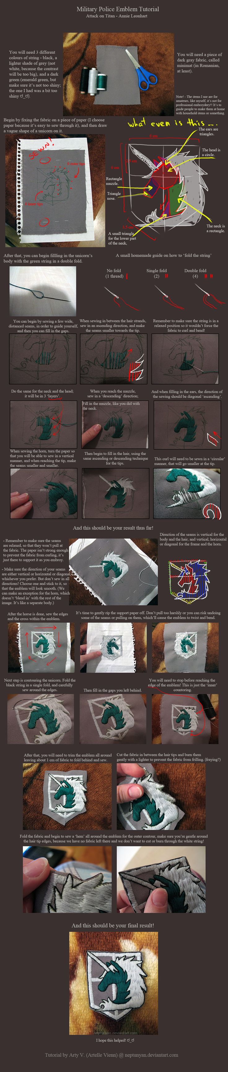 Military Police Emblem Tutorial - Snk. by neptunyan