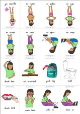 Click here to download morning routines for girls and other visual aides for home
