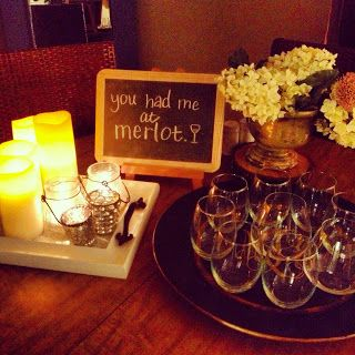 Cutest wine night idea for date or girl's night. She tells you how you set it up!