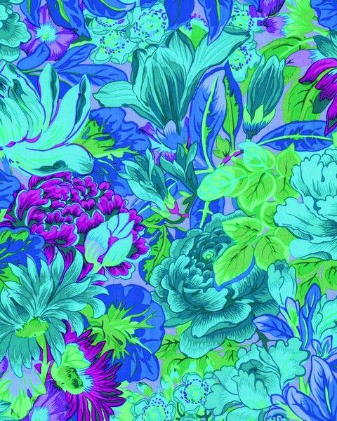 Kaffe Fassett - Lavinia Blue Fabric