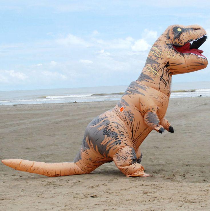 תחפושת דינוזאור טי רקס ענקית, מבחר של צבעים במלאי