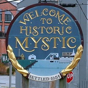 Mystic Seaport, CT -- a quaint, historic New England town.