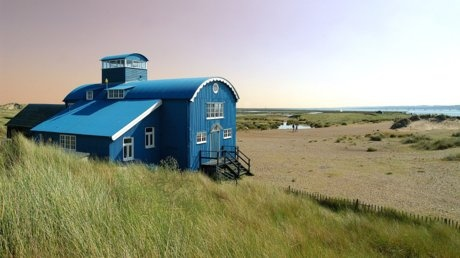 The lifeboat house on Blakeney Point