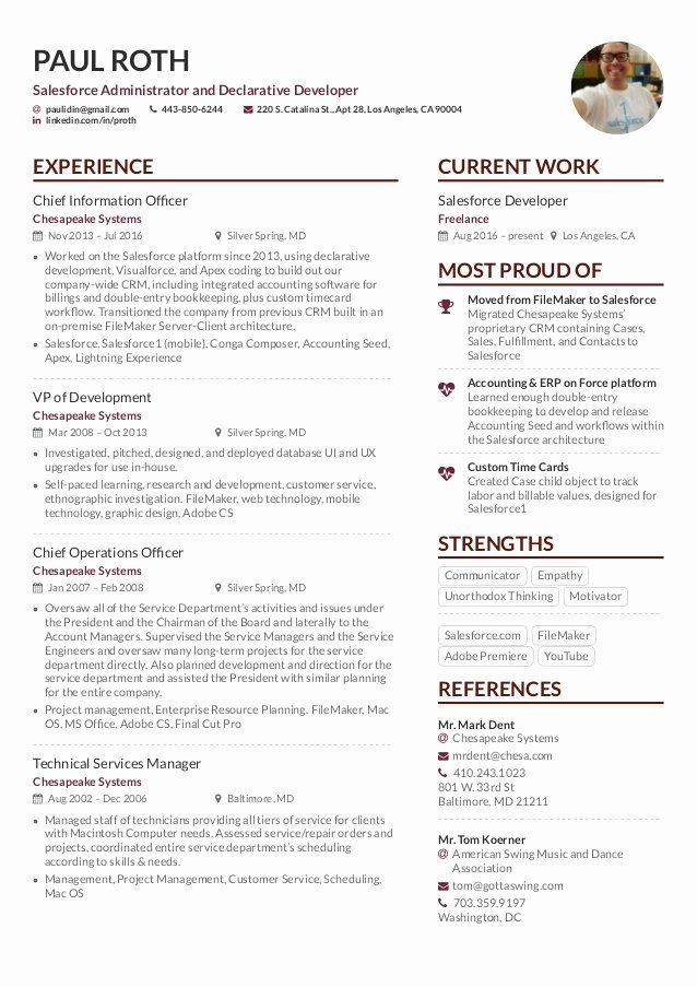 Salesforce Administrator Resume Example Best Of Paul Roth Cv 2017 002 Good Examples Dissertation Intern Fed