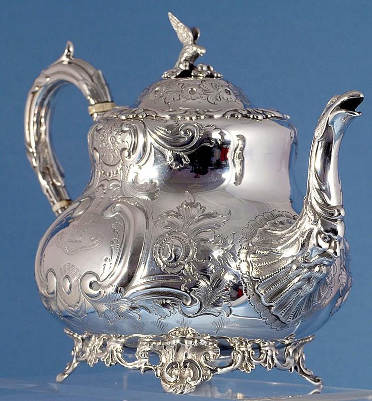 sterling silver tea pot | Victorian Silver Tea Pots,Sterling silver Teapots,Fenton Bros Ltd.Rare ...