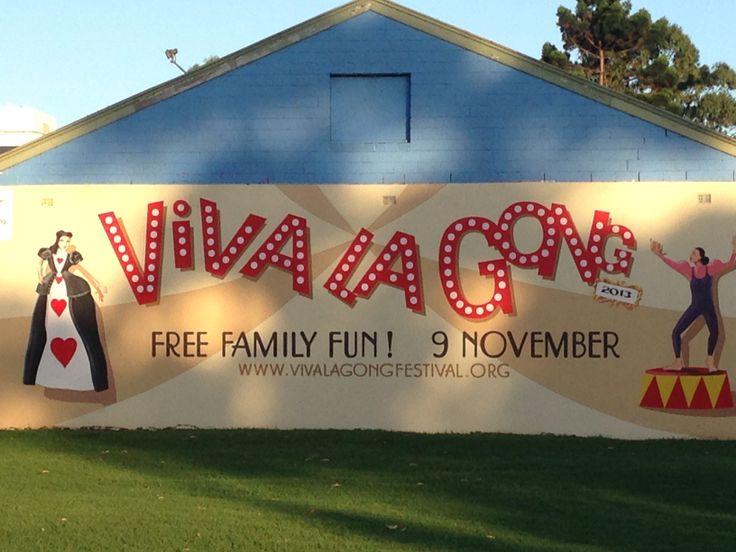 Viva La Gong mural in MacCabe Park, Wollongong