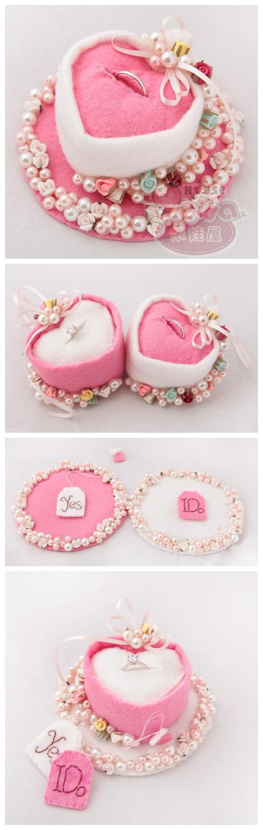 250 best felt ring pillow images on Pinterest | Ring pillows, Ring ...
