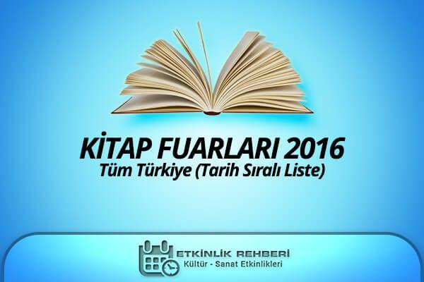 Kitap Fuarları Takvimi (2016)  #kitapfuarı #kitap #fuar