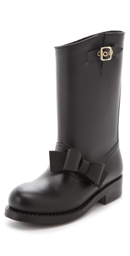 (Valentino) Rain Boots that are actually cute and not hideous,, i love the bows!