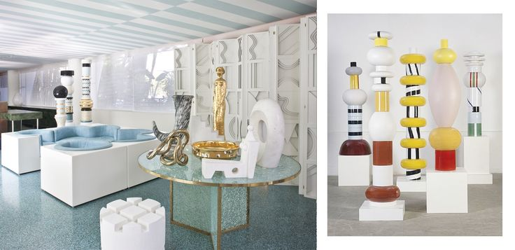 i think this project from Kelly wearstler going from Ettore sottsass