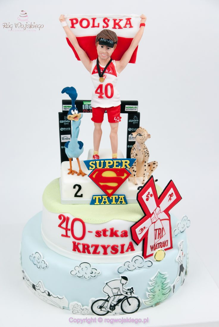 tort na 40 urodziny biegacza z gdańsk trójmiasto