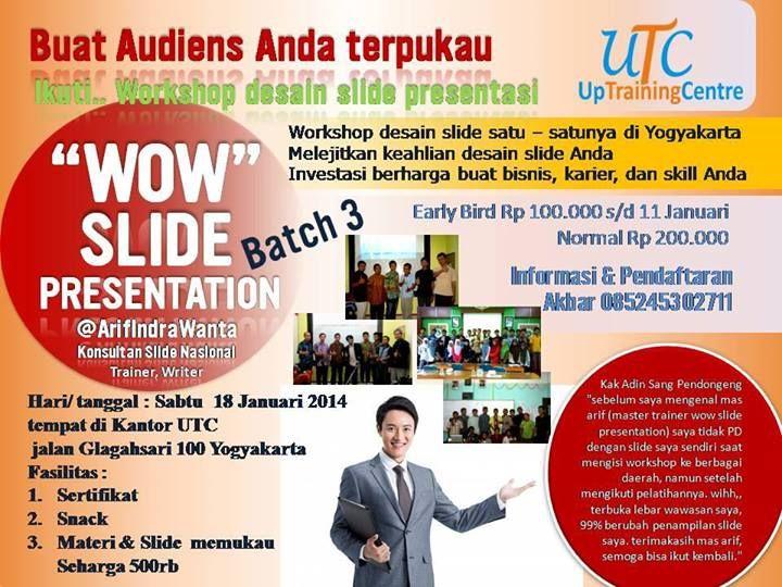 Workshop Desain Slide Presentasi Kelas Dunia