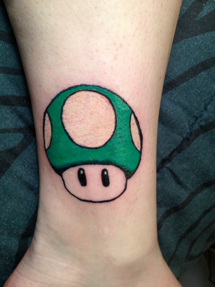 this is the 1up mushroom from super mario bros tattoos pinterest. Black Bedroom Furniture Sets. Home Design Ideas