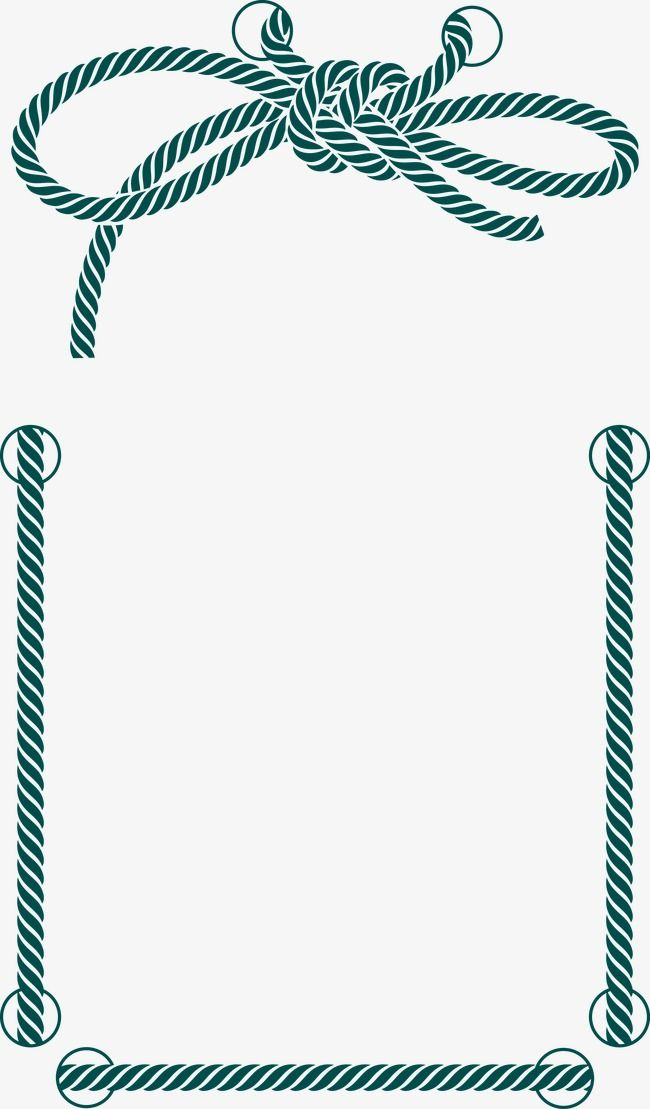 Decorative Rope Border Print Patterns Rope Frame Frame Decor