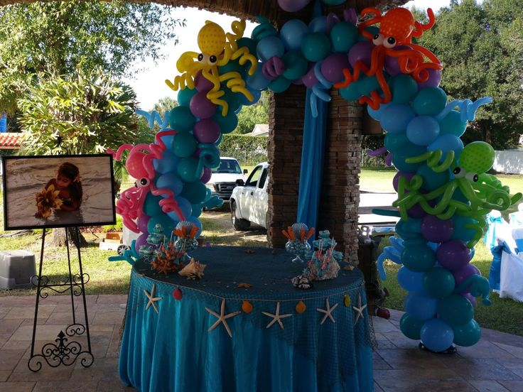 Balloon Arch With Octopus For Under The Sea Themed Balloon