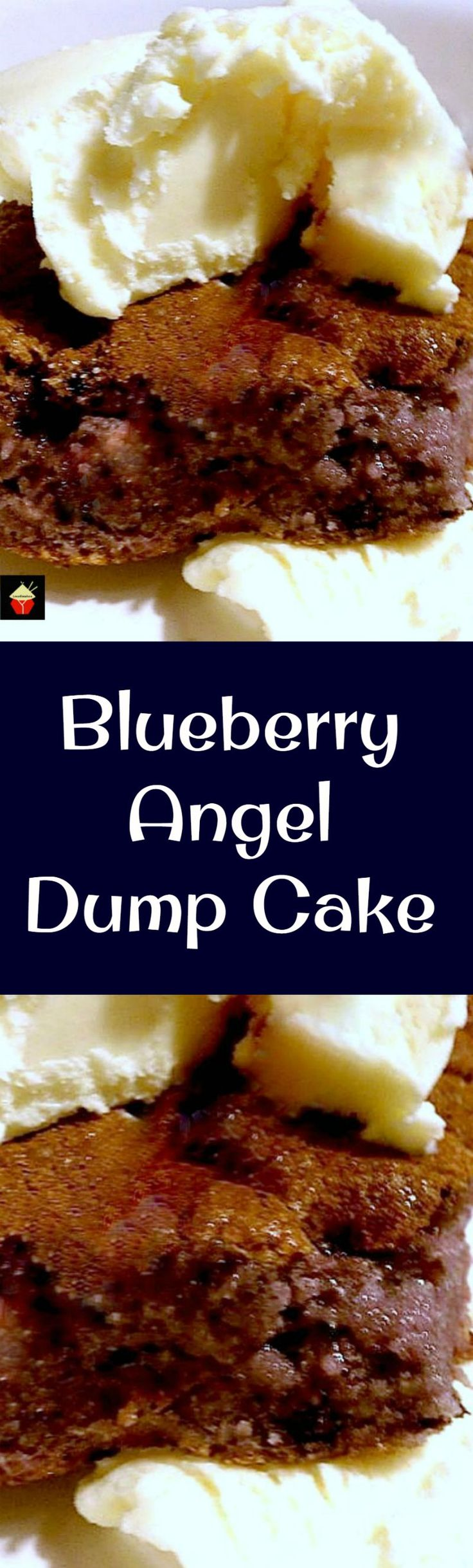 Easy Blueberry  Angel Dump Cake, so delicious with a blob or two of ice cream! Oven or slow cooker, you choose!