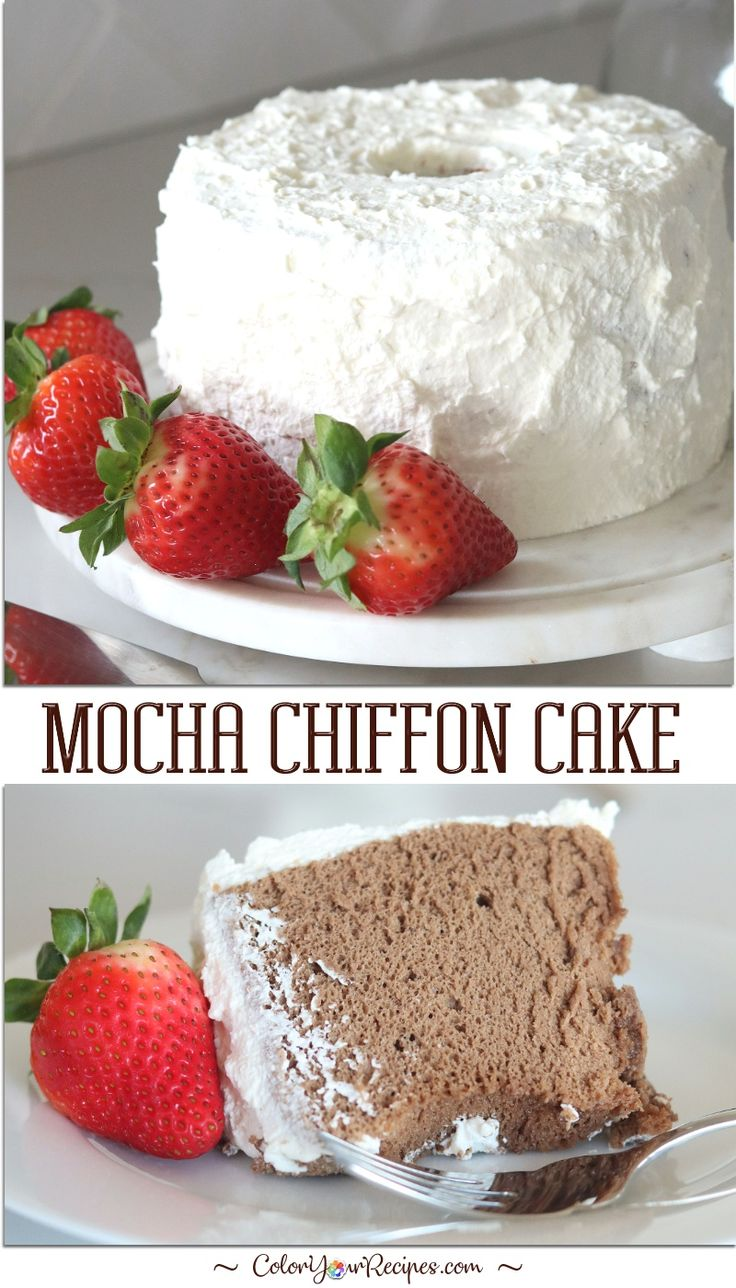 Mokka-Chiffon-Kuchen • Färben Sie Ihre Rezepte   – torte
