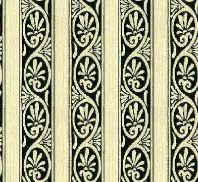 Jugendstil black on white Chenille Stripe made in Germany for Kravet Design.
