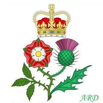 Royal thistle and rose, Scottish