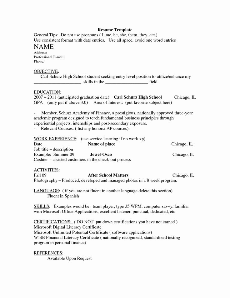 40 resume examples for highschool students in 2020