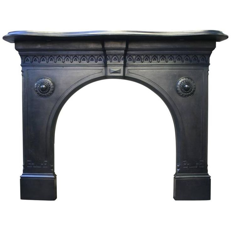 Restored Reclaimed 19th Century Victorian Fireplace Surround | From a unique collection of antique and modern fireplace tools and chimney pots at https://www.1stdibs.com/furniture/building-garden/fireplace-tools-chimney-pots/