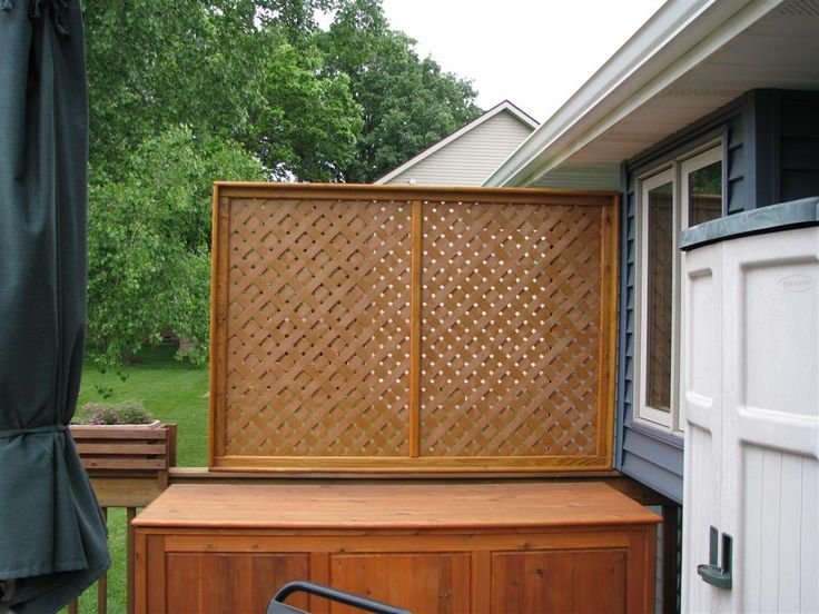9 best home deck privacy ideas images on pinterest for Hanging privacy screens for decks