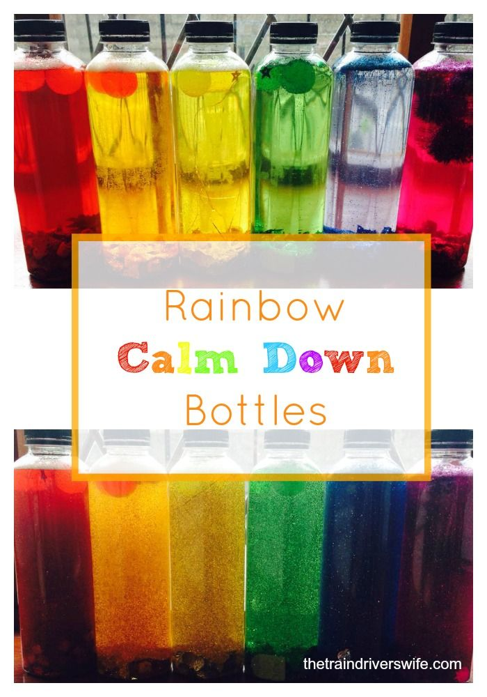 1 Rainbow calm down bottles