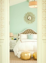 mint and gold room