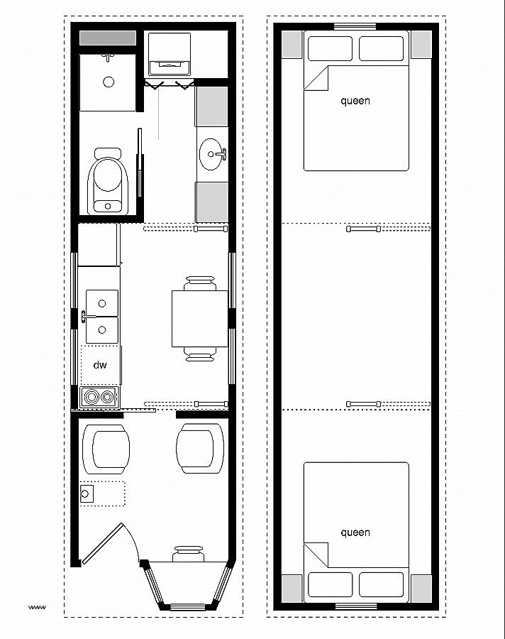 Fema Trailer Floor Plan Luxury 39 Tiny House Designs And Plans 22x8 Small